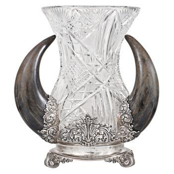 Tiffany Silver Horn Vase