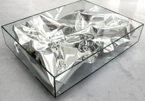 Silver Crush table by Fredrikson Stallard
