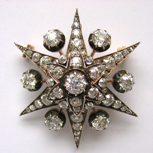 Victorian diamond set brooch