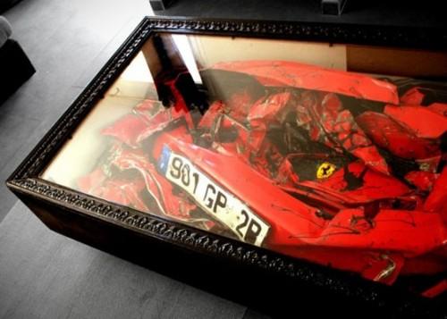Crushed Ferrari table