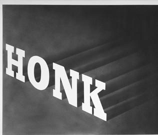 Ed Ruscha Honk